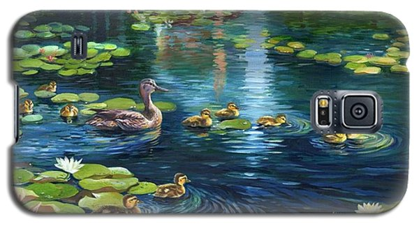 Galaxy S5 Case featuring the painting A Plaza For Hope A Place For Life by Ping Yan