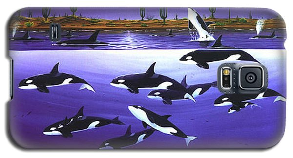 Galaxy S5 Case featuring the painting A Pod Of Desert Orcas by Lance Headlee