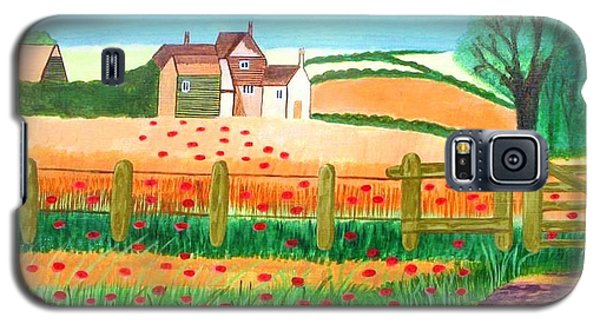 Galaxy S5 Case featuring the painting A Poppy Field by Magdalena Frohnsdorff