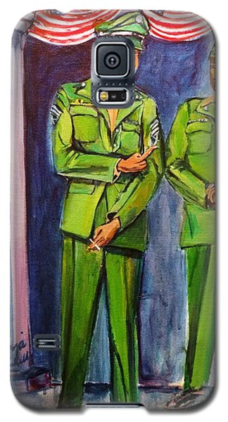 Galaxy S5 Case featuring the painting Daddy Soldier by Ecinja Art Works