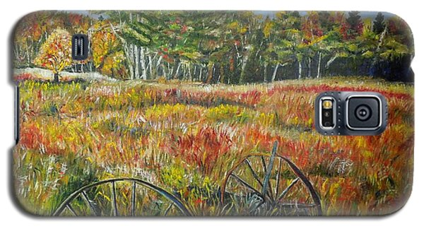 Galaxy S5 Case featuring the painting A Prairie Treasure by Marilyn  McNish