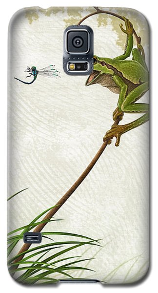 Galaxy S5 Case featuring the painting A Propitious Wind by Ron Crabb