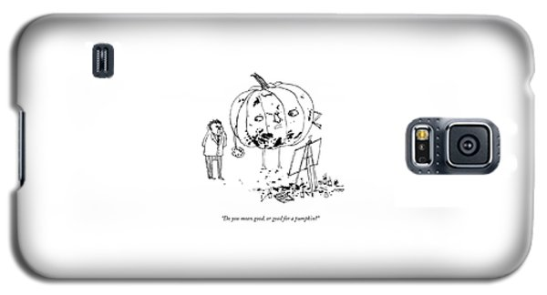 A Pumpkin With A Face And Legs Holds A Paintbrush Galaxy S5 Case