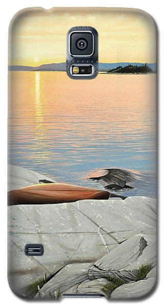 Galaxy S5 Case featuring the painting A Quiet Time by Kenneth M  Kirsch