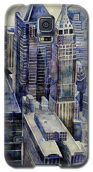 Galaxy S5 Case featuring the painting Rainy Day In Gotham by Jeffrey S Perrine