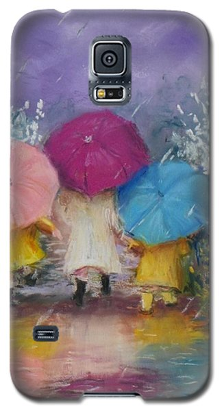 A Rainy Day Stroll With Mom Galaxy S5 Case by Jack Skinner