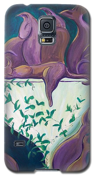 A Rather Elegant Cat Party Galaxy S5 Case