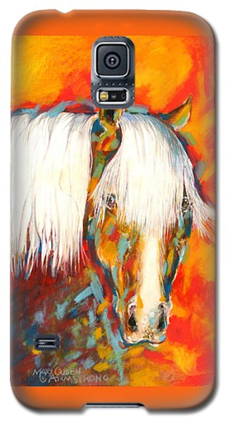 Galaxy S5 Case featuring the painting A Red Hot Head by Mary Armstrong
