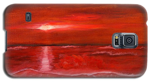 A Red Sunset Galaxy S5 Case by J Cheyenne Howell