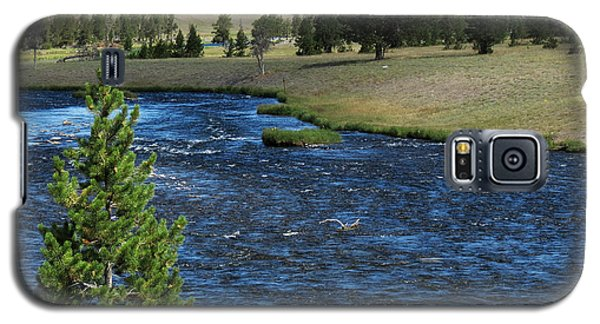 Galaxy S5 Case featuring the photograph A River Runs Through Yellowstone by Laurel Powell