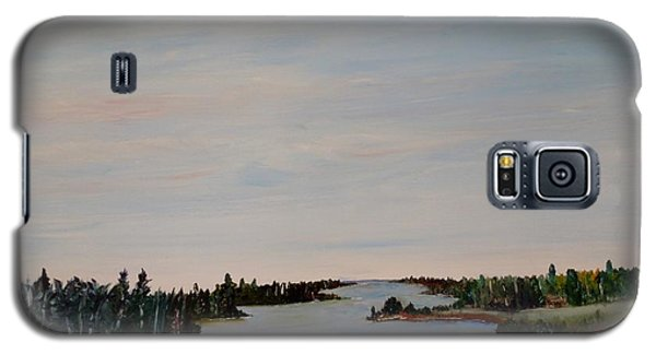 Galaxy S5 Case featuring the painting A River Shoreline by Marilyn  McNish