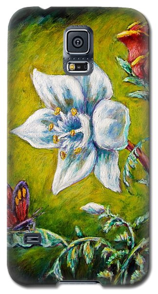 A Rose A Lily And A Butterfly Galaxy S5 Case