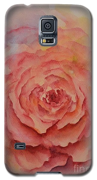 Galaxy S5 Case featuring the painting A Rose Beauty by Kathleen Pio