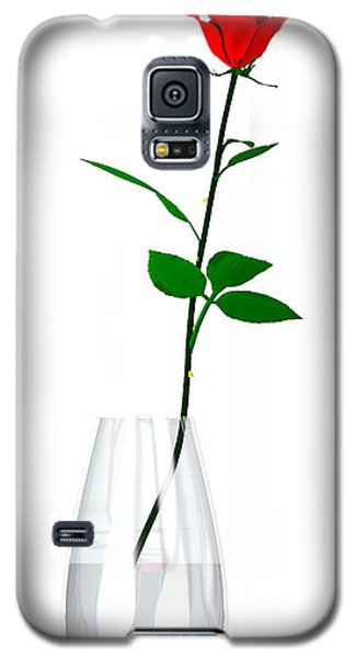 Galaxy S5 Case featuring the digital art A Rose For The Woman I Love... by Tim Fillingim