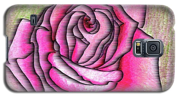 Galaxy S5 Case featuring the drawing A Rose Is A Rose by Mary Bedy