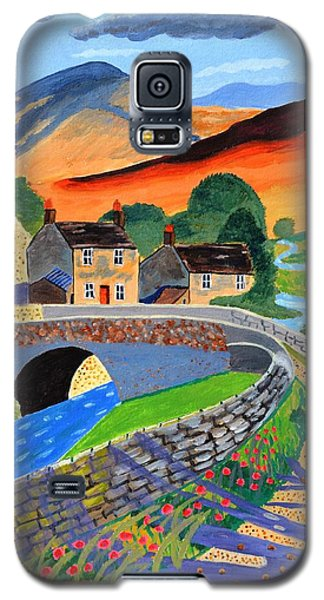 Galaxy S5 Case featuring the painting a Scottish highland lane by Magdalena Frohnsdorff
