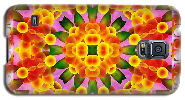 Galaxy S5 Case featuring the digital art A Semblance Of Flowers by Mario Carini