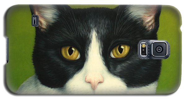 A Serious Cat Galaxy S5 Case by James W Johnson