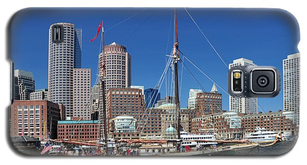 A Ship In Boston Harbor Galaxy S5 Case by Mitchell Grosky