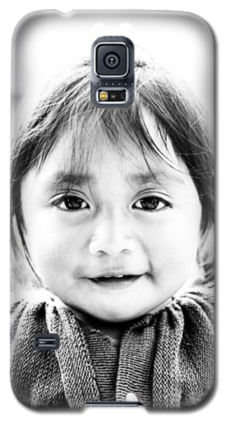 A Small Guatemalam Life - Black And White Galaxy S5 Case by Shelby  Young