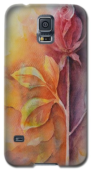 Galaxy S5 Case featuring the painting A Solitary Rose by Kathleen Pio