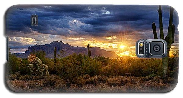 A Sonoran Desert Sunrise Galaxy S5 Case by Saija  Lehtonen