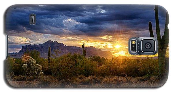 A Sonoran Desert Sunrise Galaxy S5 Case