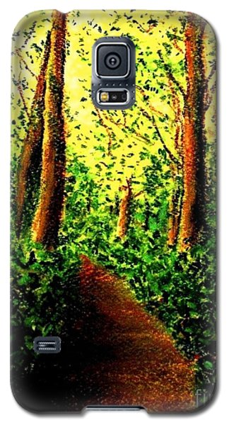Galaxy S5 Case featuring the painting A Spiritual Awakening by Hazel Holland