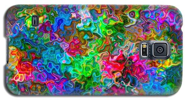 Galaxy S5 Case featuring the digital art A Splash Of Colors... by Tim Fillingim