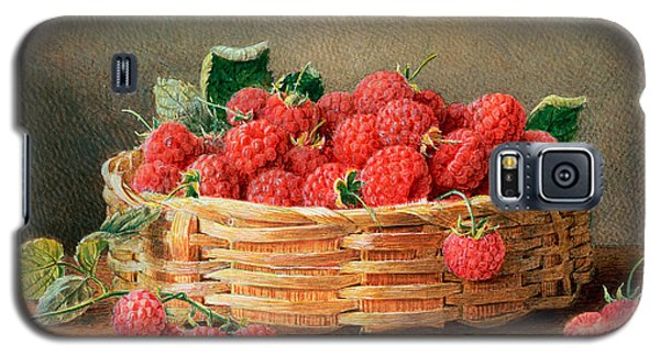A Still Life Of Raspberries In A Wicker Basket  Galaxy S5 Case by William B Hough
