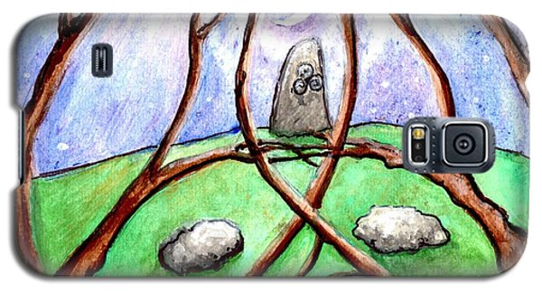 A Stone In The Grove In Moonlight Galaxy S5 Case