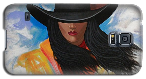 Galaxy S5 Case featuring the painting A Stroke Of Cowgirl by Lance Headlee