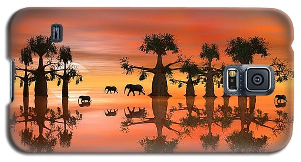Galaxy S5 Case featuring the digital art A Stroll By Moonlight IIi by Jacqueline Lloyd