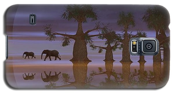 Galaxy S5 Case featuring the digital art A Stroll By Moonlight by Jacqueline Lloyd