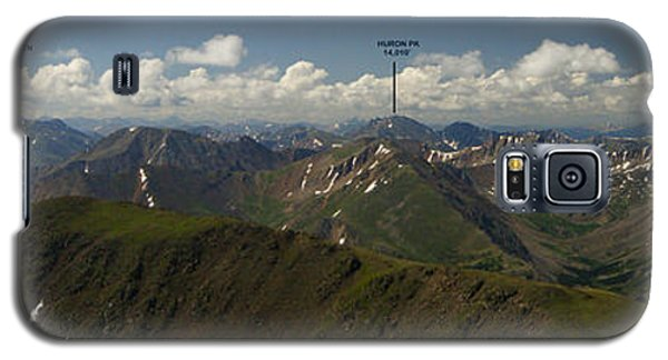 A Summit View Panorama Text Galaxy S5 Case