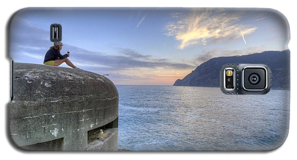 A Sunset Glass Of Wine And A Wwii Pillbox Galaxy S5 Case