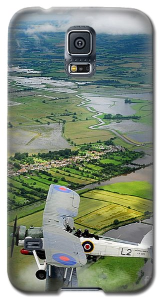 Galaxy S5 Case featuring the photograph A Swordfish Aircraft With The Royal Navy Historic Flight. by Paul Fearn
