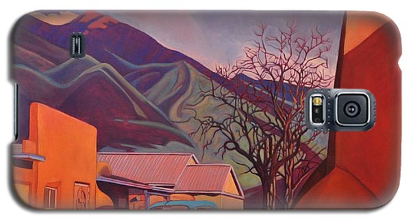 A Teal Truck In Taos Galaxy S5 Case by Art James West