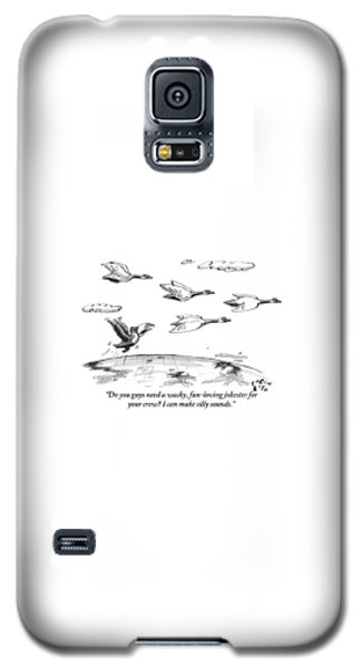 Toucan Galaxy S5 Case - A Toucan Tries To Catch Up With Migrating Canada by Farley Katz