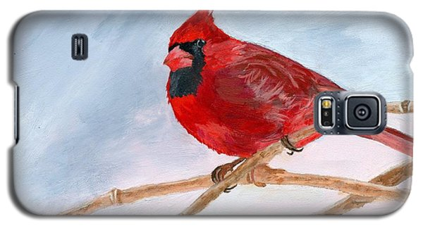 Galaxy S5 Case featuring the painting A Touch Of Red by Lynne Reichhart