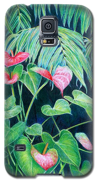 A Touch Of Red Galaxy S5 Case by Mariarosa Rockefeller