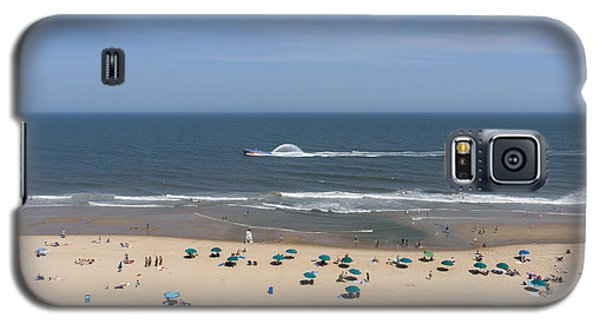 A Touring Speedboat Passes By Shore In Ocean City Maryland Galaxy S5 Case