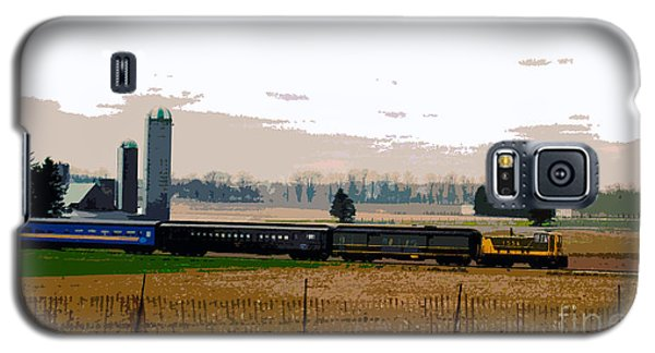 Galaxy S5 Case featuring the photograph A Train Runs Through It by Nina Silver