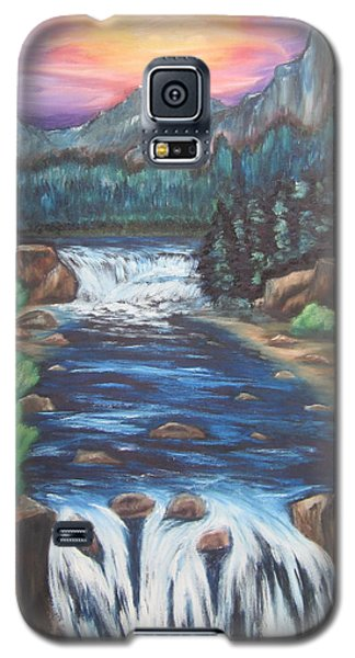 Galaxy S5 Case featuring the painting A Trip Thru The Mind by Cheryl Pettigrew