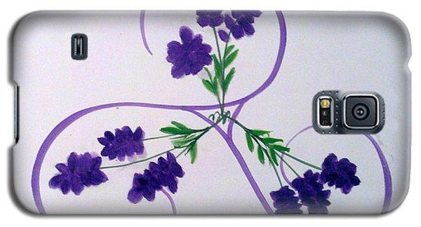 A Triskele Of Lavender Galaxy S5 Case
