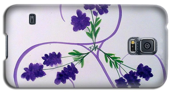 A Triskele Of Lavender Galaxy S5 Case