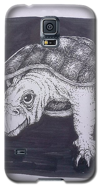 Galaxy S5 Case featuring the painting A Turtle Named Puppy by Richie Montgomery