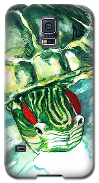 A Turtle Who Likes To Eat Fish Galaxy S5 Case