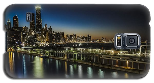 A Unique Look At The Chicago Skyline At Dusk Galaxy S5 Case