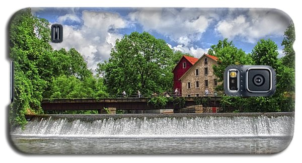 Galaxy S5 Case featuring the photograph A View Of The Mill From The River by Debra Fedchin